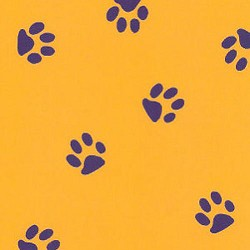 Fabric Finders Gold Purple Paw