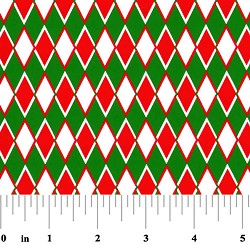 Fabric Finders Red Green Diamonds