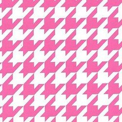 Fabric Finders Hot Pink Houndstooth