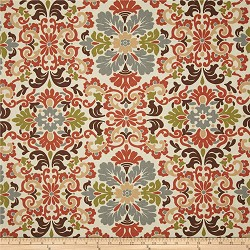 Folk Damask Terracotta