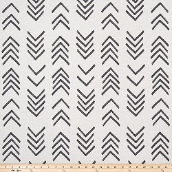 Mud Cloth Black Flame Flax