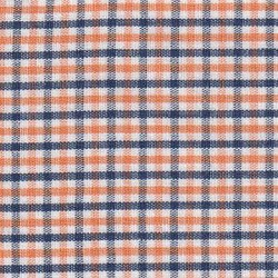 Navy Orange White Plaid