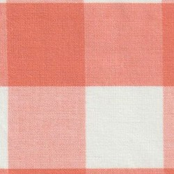 Orange White Gingham 1""