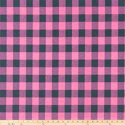 Buffalo Plaid Polish Pink Deep Navy
