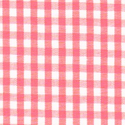 Watermelon White Gingham 1/8""